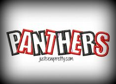 Panthers Overlap Applique