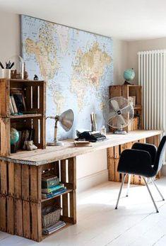 Salte de lo ordinario y decora tu casa con huacales, haz que tu casa se vea…