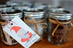 give treats in mason jars....cute