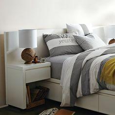 Storage Bed Headboard - White | west elm