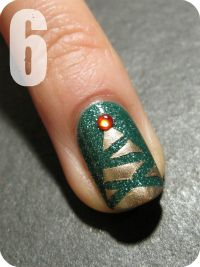 abstract tree nail art