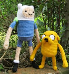 PDFs of Finn and Jake Amigurumi Patterns by lucyravenscar on Etsy, $8.00