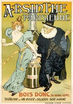 POSTER ABSINTHE BERTHELOT BELLE EPOQUE FRENCH DRINK PARIS VINTAGE REPRO FREE S//H