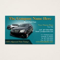 299 Best Auto Sales Business Cards Images On Pinterest In 2019