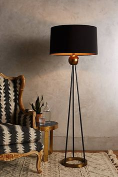 Here Are 20 Modern Lighting Ideas To Bring Your Home Into The Century Triangulate Floor Lamp En Diy Floor Lamp, Modern Floor Lamps, Floor Lamp Makeover, Cool Floor Lamps, Interior Lighting, Modern Lighting, Lighting Ideas, Lighting Design, Bedroom Lamps