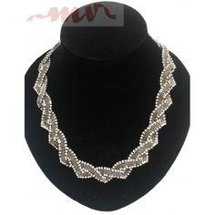 Colier cu pietricele impletit Blog, Gifts, Jewelry, Google, Decor, Fashion, Moda, Presents, Jewlery