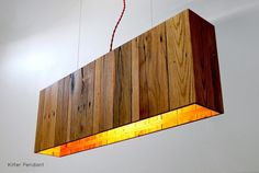 Kilter Pendant with Wood Pallet - Pendant Lighting Wood Lamp