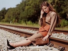 """Banned Miu Miu campaign featuring actress Hailee Steinfeld shot by Bruce Weber in 2011, was branded """"irresponsible"""" for its hazardous railway setting"""