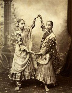 Indian dancers ca. 1880 https://www.facebook.com/IndiaWithKrystal