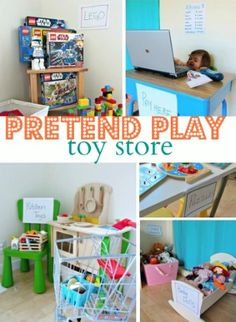 Pretend Play Toy Store - Melissa & Doug puzzles, shopping cart, play food and doll all in one fun post!