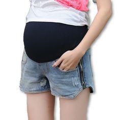 Side Zipper Faded Maternity Shorts  #maternityclothing #gorgeous #fashion #pregnancy #motherhood #socute #babybump #summer #momtobe #shopnow