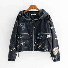 universe galaxy Hoodie coat sold by Harajuku Fashion Style. size m. littlealien.