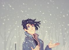 Art by PrinceCanary •  princecanary.tumblr.com | Theo | snowing