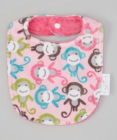 Another great find on #zulily! Fuchsia Monkey Bib by Bebe Bella Designs #zulilyfinds