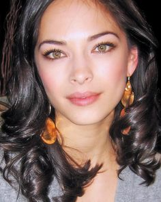 Kristin Kreuk. this a perfect picture of her pretty unique looking eyes.