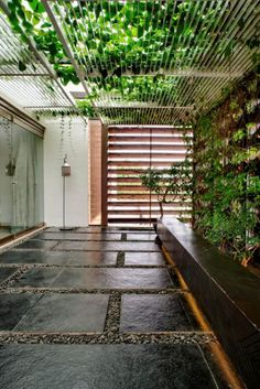 Exterior brick design dining rooms ideas for 2019 Garden Ideas Driveway, Backyard Garden Design, Backyard Patio, Backyard Landscaping, Backyard Ideas, Private Patio Ideas, Courtyard Design, Balcony Design, Patio Design