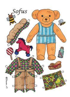 Bears paper dolls 74 » Раскраски распечатать бесплатно. Скачать новые картинки раскраски