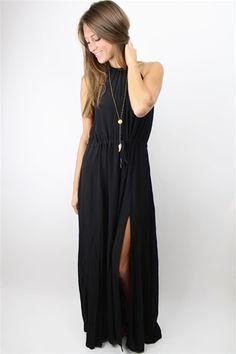 Gin Black Maxi Dress by #pinkstitch at Rosie True