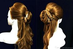 実写版「美女と野獣」ベルのハーフアップ 髪型の作り方 Hair Arrange, Bride Groom, Hairstyle, Long Hair Styles, Wedding, Beauty, Fashion, 15 Years, Hair Job