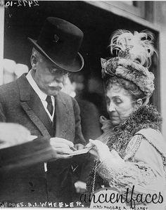 Benjamin I Wheeler and Phoebe Hearst