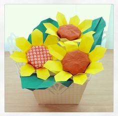 origami sunflower ( ̄(工) ̄)〜
