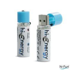 Pack de 2 pilas recargables vía USB.  Especificaciones técnicas:      AA/R6     1.2 V/1450 mAh     Ni-Mh