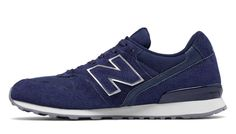 New Balance 996 Suede, Black Plum with Navy & White