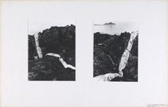 Bruce McLean '2 Rock and Shoreskapes, Largiebeg', 1969 © Bruce McLean
