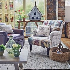 Country motif living room | Living room decorating | Country Home and Interiors | Housetohome.co.uk