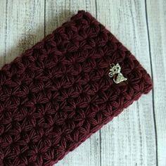 Crocheted glamor headband for women. Warm & soft