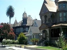 Angelino Heights Los Angeles (in echo park) One day I would love to live here.
