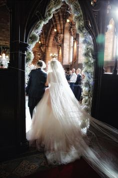 A Beautiful Cathedral Train, perfect if you want to stand out in a church wedding!