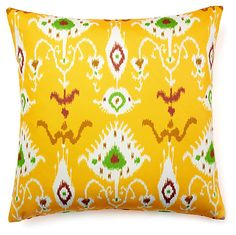 One Kings Lane - All Decked Out - Vision 20x20 Outdoor Pillow, Yellow