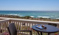 The Sand Pebbles Inn in Cambria, CA is just steps away from coastal access.