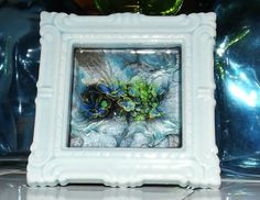 Aphotic Perennial Marble Glass Art by GlassByPriscilla on Etsy