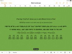 "Education App – Add ""AnyFont"" to iPad"