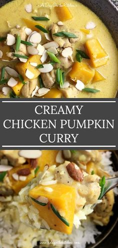Curry Recipes, Soup Recipes, Dinner Recipes, Free Recipes, Healthy Chicken Recipes, Asian Recipes, Healthy Dinners, Pumpkin Curry, Pumpkin Spice