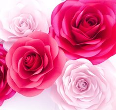 Luxury Paper Flowers - Shades of Pink Large Paper Flowers - Wedding Backdrop