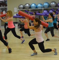 Lunges. ViPR Group Fitness