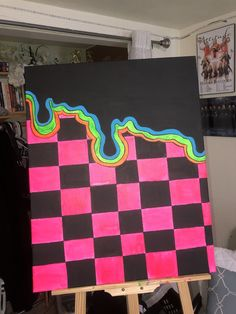 Simple Canvas Paintings, Easy Canvas Art, Small Canvas Art, Mini Canvas Art, Cool Paintings, Acrylic Painting Canvas, Diy Painting, Light Painting, Hippie Painting