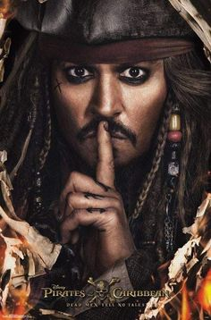Poster Pirates of the Caribbean - dead men tell no tales - Captain Jack Sparrow - Johnny Depp - Disney - I'm in love Captain Jack Sparrow, Jack Sparrow Wallpaper, Jonny Deep, The Lone Ranger, Pirate Life, New Poster, Dead Man, Pirates Of The Caribbean, Good Movies