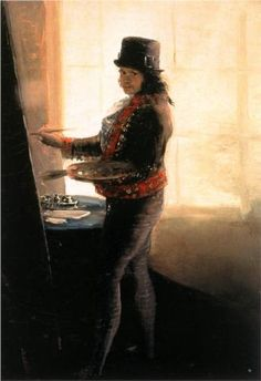 Self-portrait in the Studio, Francisco Goya, Spanish artist~ Born: 30 March 1746 Died: 16 April 1828 Active years: 1770 - 1828 Field: painting, printmaking Nationality: Spanish Art Movement: Romanticism Francisco Goya, Spanish Painters, Spanish Artists, Goya Paintings, Madrid, Museum Of Fine Arts, Famous Artists, Art Studios, Artist At Work
