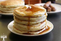 This easy to follow recipe makes the best homemade pancakes. These pancakes are light and fluffy, with just a hint of sweetness, but not too much that you can't still drown them in delicious maple