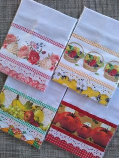 Dish Towels, Hand Towels, Tea Towels, Applique Towels, Diy And Crafts, Arts And Crafts, Patch Quilt, Baby Design, Kitchen Towels
