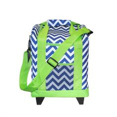Mainstreet Collection Rolling Cooler Navy Chevron