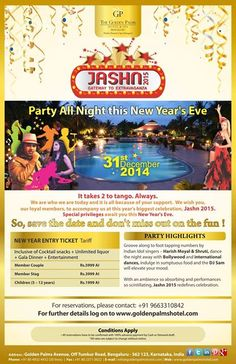 Release your inner party animal at our magnificent New Year Bash! #Jashn2015