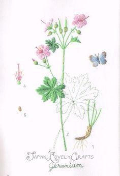 Embroidered Garden Flower Kazuko Aoki by JapanLovelyCrafts