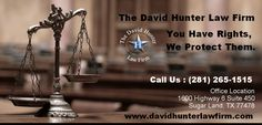 Hard to find out the best lawyers for criminal or other cases for solving your problems. You need a strong, aggressive and effective criminal defense attorney in Texas. As your criminal defense attorney, I will fight hard to protect your rights and preserve your freedom. For a free consultation with David Hunter, DWI lawyer, call 281-265-1515 for more details ,Visit : http://www.davidhunterlawfirm.com