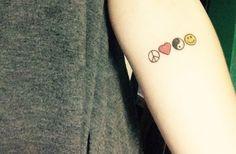 peace, love, unity, respect  ✌️ plur tattoo