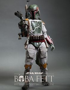 "Hot Toys Star Wars: Episode VI Return of the Jedi ""Boba Fett"" Scale Collectible Figure: Fans of the Star Wars franchise will undoubtedly be familiar with bounty hunter Boba Fett, with his Boba Fett Mandalorian, Mandalorian Cosplay, Star Wars Boba Fett, Jango Fett, Cosplay Armor, Cosplay Costumes, Star Wars Toys, Star Wars Art, Star Trek"